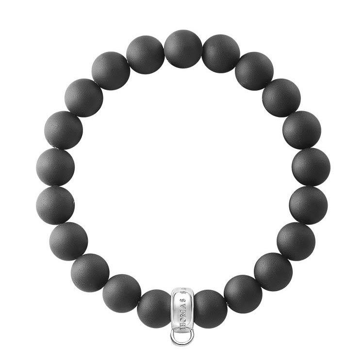 Charm Club Armband 17,5 cm Obsidian