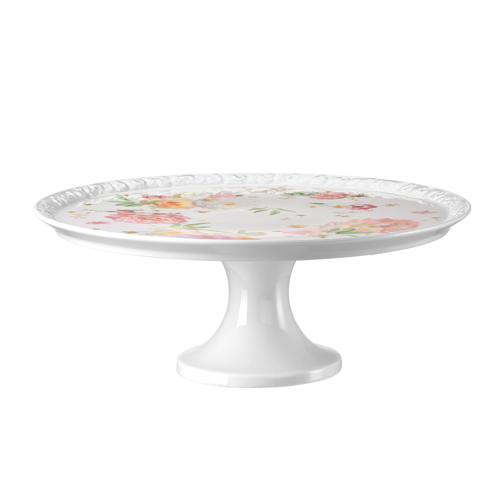 Maria Pink Rose Tårtfat 31,5 cm