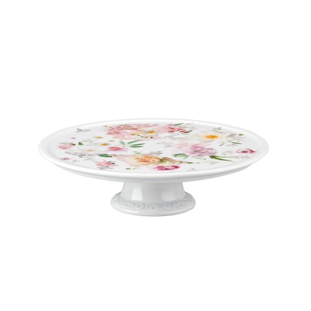 Maria Pink Rose Tårtfat 20 cm