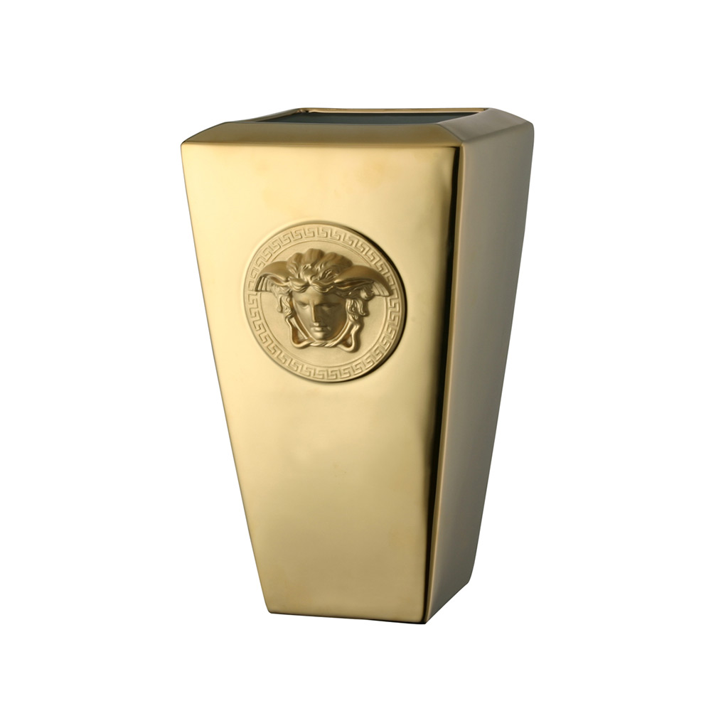 Rosenthal Versace Medusa Gold Vas 32 cm, Guld